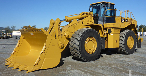 2011 Caterpillar 988H high lift wheel loader sold at Ritchie Bros. auction