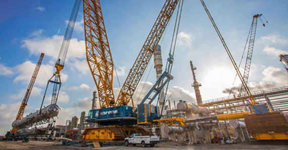 Demad CC8800-1 Twin lattice boom crawler crane