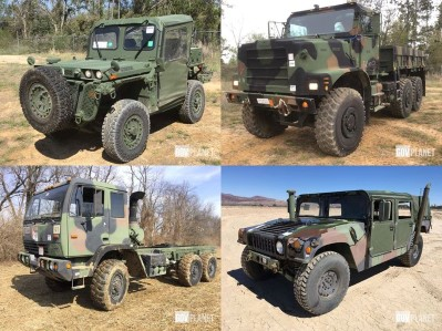 Military vehicles sold by Ritchie Bros.