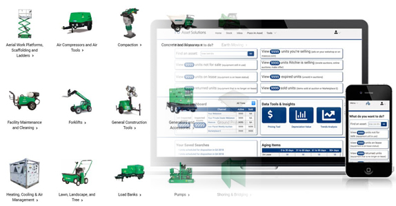 RB Asset Solutions equipment remarketing tools.