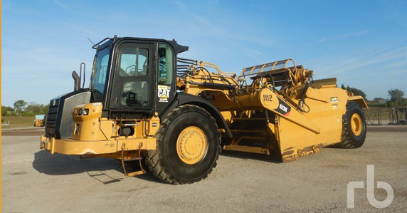2015 Cat Motor Scraper Sold in Ritchie Bros Orlando Auction