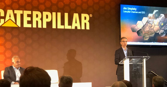 CEO of Caterpillar at CONEXPO press conference