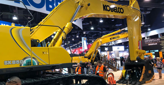 Kobelco SK850 excavator on display at Conexpo